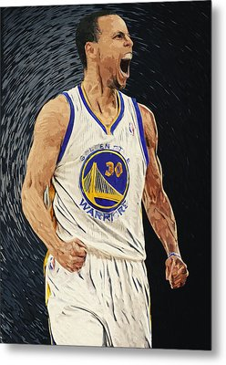 Stephen Curry Metal Print by Taylan Soyturk