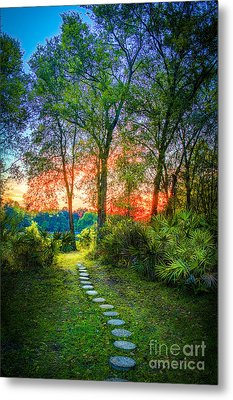 Stepping Stones To The Light Metal Print by Marvin Spates