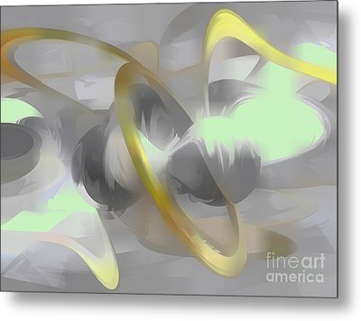 Sterling Desire Abstract Metal Print by Alexander Butler