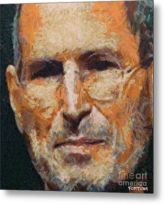 Steve Jobs Metal Print by Dragica  Micki Fortuna