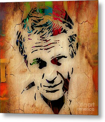 Steve Mcqueen Collection Metal Print by Marvin Blaine