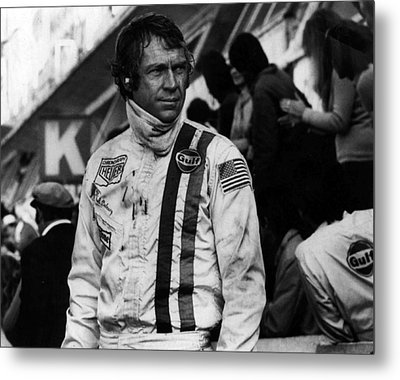 Steve Mcqueen In Racing Gear Metal Print by Retro Images Archive