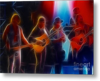 Steve Miller Band Fractal Metal Print by Gary Gingrich Galleries
