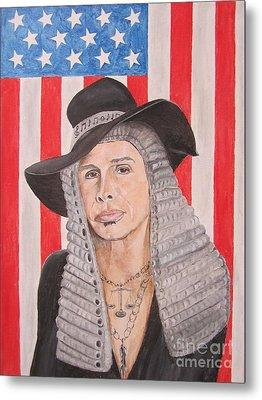 Steven Tyler As A Judge Painting Metal Print by Jeepee Aero