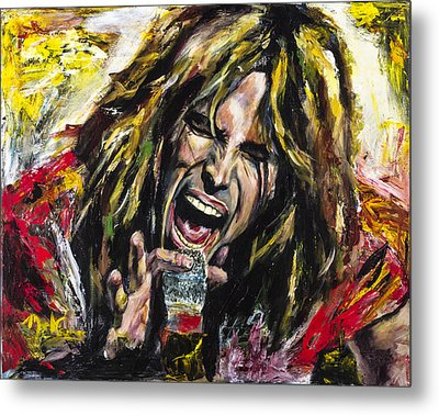 Steven Tyler Metal Print by Mark Courage