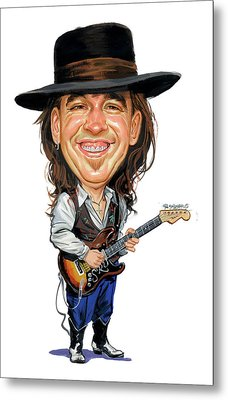 Stevie Ray Vaughan Metal Print by Art