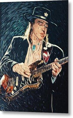 Stevie Ray Vaughan Metal Print by Taylan Soyturk