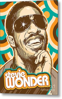 Stevie Wonder Pop Art Metal Print by Jim Zahniser