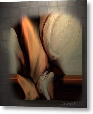 Still Abstract Metal Print by Ines Garay-Colomba