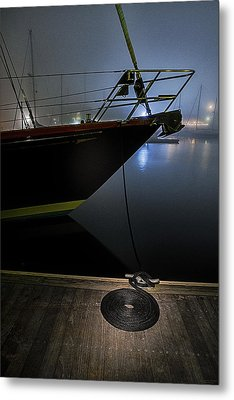 Still In The Fog Metal Print by Marty Saccone