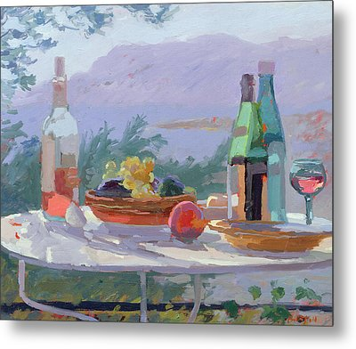 Still Life And Seashore Bandol Metal Print by Sarah Butterfield