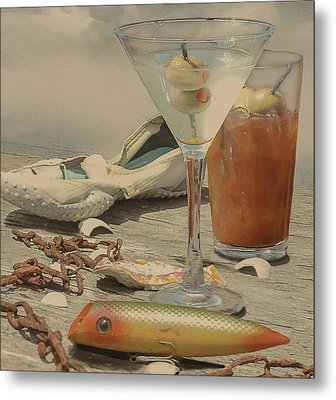 Still Life - Beach With Curves Metal Print by Jeff Burgess