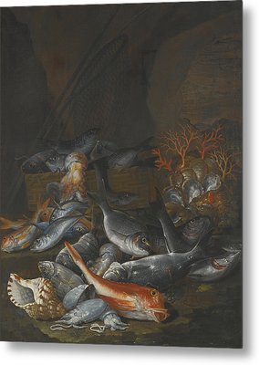 Still Life Of Assorted Fish Metal Print by Celestial Images