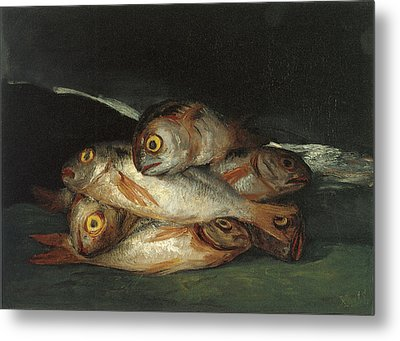 Still Life With Golden Bream Metal Print by Francisco De Goya