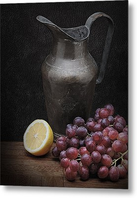 Still Life With Grapes Metal Print by Krasimir Tolev