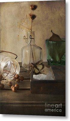 Still Life With Grasshopper Metal Print by Elena Nosyreva