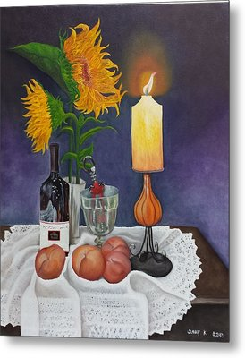 Still Life With Sunflowers Metal Print by Sunny  Kim