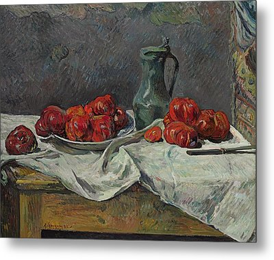 Still Life With Tomatoes Metal Print by Paul Gauguin