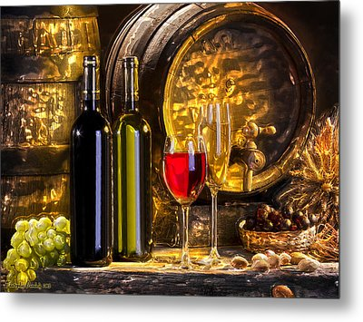 Still Life With Two Barrels.  Metal Print by Tautvydas Davainis