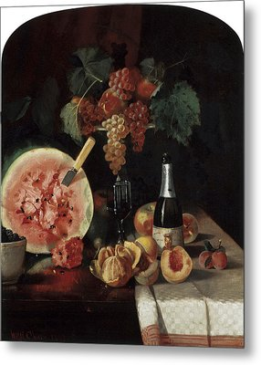 Still Life With Watermelon Metal Print by William Merritt Chase