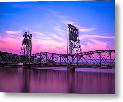 Stillwater Lift Bridge Metal Print by Adam Mateo Fierro