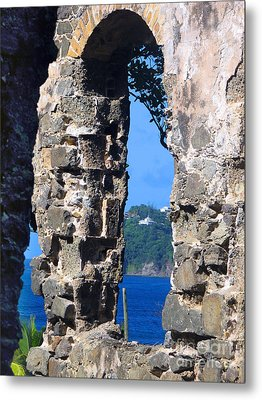 Stlucia - Ruins Metal Print by Gregory Dyer