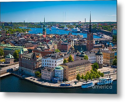 Stockholm From Above Metal Print by Inge Johnsson