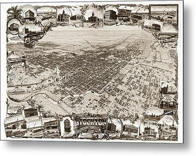 Stockton San Joaquin County California  1895 Metal Print by California Views Mr Pat Hathaway Archives