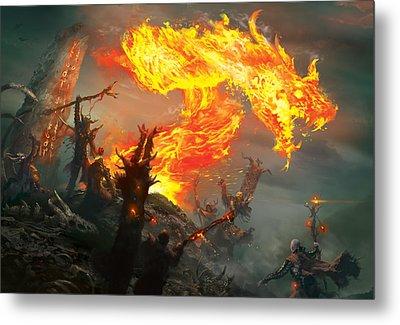 Stoke The Flames Metal Print by Ryan Barger