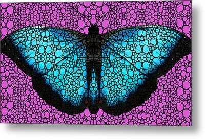 Stone Rock'd Butterfly 2 By Sharon Cummings Metal Print by Sharon Cummings