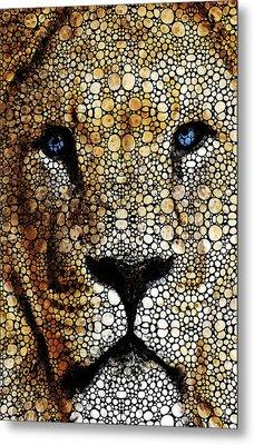 Stone Rock'd Lion 2 - Sharon Cummings Metal Print by Sharon Cummings