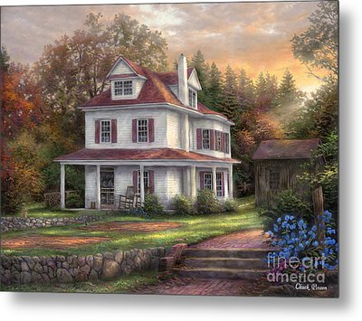 Stone Terrace Farm Metal Print by Chuck Pinson