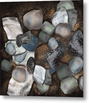 Stone Thoughts Metal Print by Christine Fournier