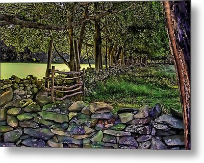 Stone Walled Metal Print by Tom Prendergast