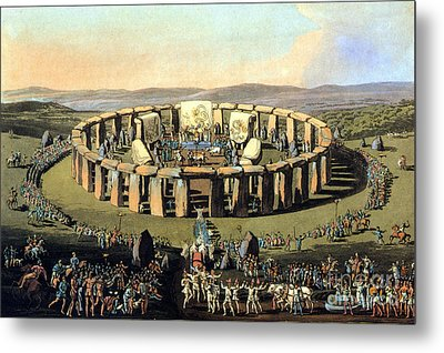 Stonehenge, Druid Festival Metal Print by Science Source