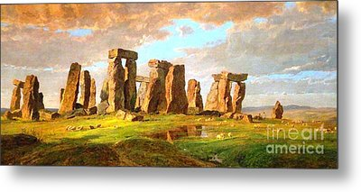 Stonehenge Metal Print by Pg Reproductions