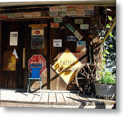 Stop And Have A Seat Metal Print by Mel Steinhauer