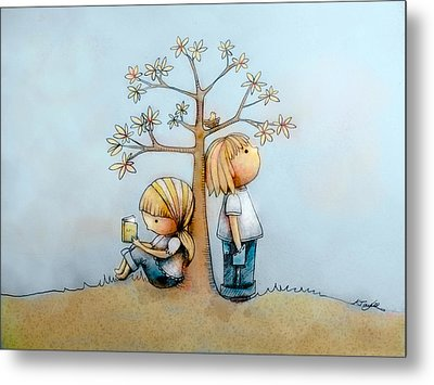 Stop And Smell The Flowers  Metal Print by Karin Taylor