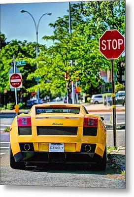 Stop Signs Are Wrong Metal Print by JC Findley
