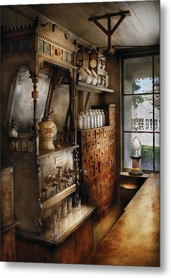 Store - Turn Of The Century Soda Fountain Metal Print by Mike Savad