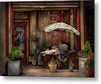 Storefront - Frenchtown Nj - The Boutique Metal Print by Mike Savad