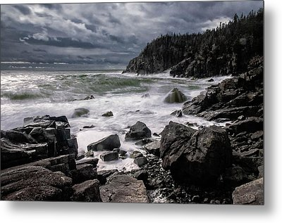 Storm At Gulliver's Hole Metal Print by Marty Saccone