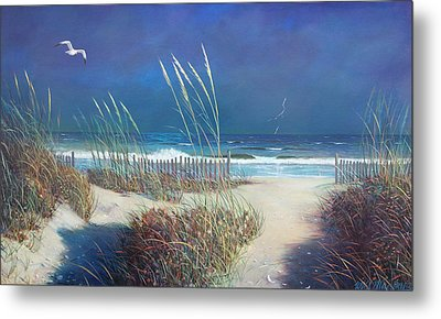 Storm At Sea Metal Print by Blue Sky