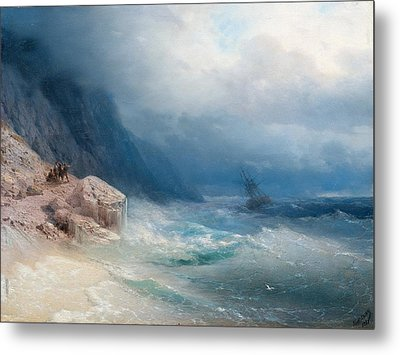 Storm At Sea Metal Print by Celestial Images