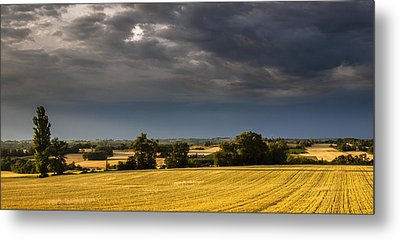 Storm Brewing Over Corn Metal Print by Matthew Bruce