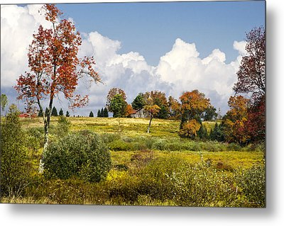 Storm Clouds Over Country Landscape Metal Print by Christina Rollo