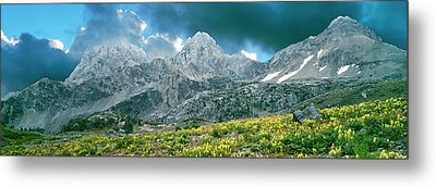 Storm Clouds Over Mountain, Teton Metal Print by Panoramic Images