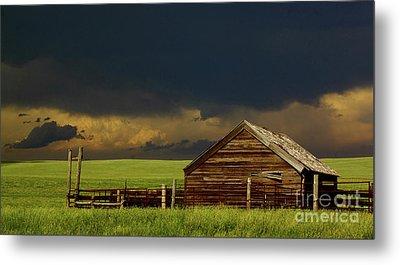 Storm Crossing Prairie 2 Metal Print by Robert Frederick