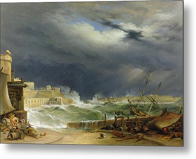 Storm Malta Metal Print by John or Giovanni Schranz