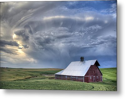 Storm On Jenkins Rd Metal Print by Latah Trail Foundation